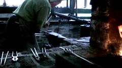 Blacksmith shop Stock Footage