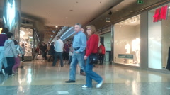 People walking in a shopping mall - stock footage