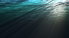 Looping underwater view of the ocean with looping sound (1 of  8) - stock footage