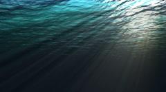 Stock Video Footage of Looping underwater view of the ocean with looping sound (1 of  8)