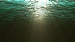 Stock Video Footage of Looping underwater view of the ocean with looping sound (4 of  8)