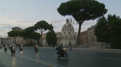 Dozens of scooters in Rome Stock Footage