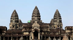 Angkor Wat Temple, Cambodia, The World's Largest Religious Building, Khmer Style Stock Footage