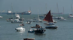Boats in sea P1 Stock Footage