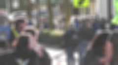 Blurry Crowd Movement 3 Stock Footage