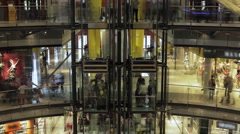 Mall elevators 4k Stock Footage