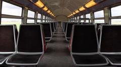 empty railcar second floor - stock footage