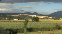 Italy Umbria view of Spello on a hill Stock Footage