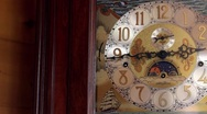 Grandfather Clock Slow Dolly Stock Footage