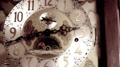 Grandfather Clock Bleach Bypass Stock Footage