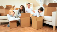 New Home for Young Caucasian Family Stock Footage