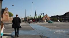 Bicycling in Copenhagen Stock Footage