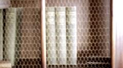 Books on shelf (dreamlike) - stock footage
