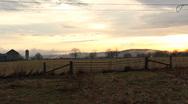 Farm Sunset Ontario 1 Stock Footage