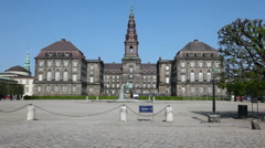 Christiansborg Palace Stock Footage