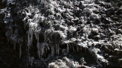 Ice on Mountain Side Melting HD-P 0567 Stock Footage