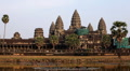 Angkor Wat Temple, Cambodia, religious, unesco, heritage, reflection, palm tree Footage