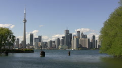Toronto view from Island Stock Footage