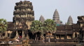 Angkor Wat Temple, Cambodia, asia, traditional, holy, ancient, landscape Footage