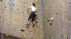 Rock Wall woman (10sec) Stock Footage