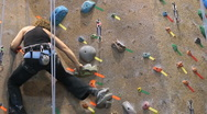 Stock Video Footage of Rock Wall woman black