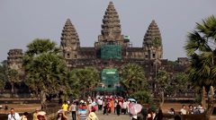 Stock Video Footage of Angkor Wat Temple, Cambodia, civilization, hinduism, castle, siem reap, old