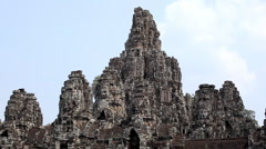 Bayon Buddhist Temple, Angkor Thom, Cambodia, Khmer Architecture Style Stock Footage