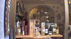 Orvieto wine bottles Stock Footage