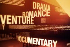Movie Genres Related Words Background Loop NTSC - stock footage
