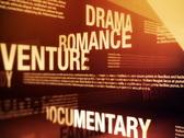 Movie Genres Related Words Background Loop NTSC Stock Footage