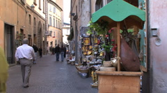 Orvieto tourists 2 Stock Footage