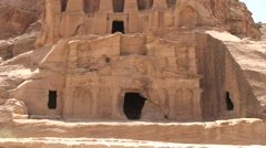 Nabatean monument: Obelisk tomb Stock Footage