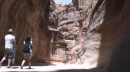Stock Video Footage of people take picture of Siq, Petra