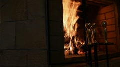 Background fireplace Stock Footage