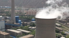 Coal, power plant, factory, China, fossil, fuel, energy, domestic, demand - stock footage