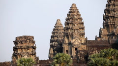 Stock Video Footage of Angkor Wat Temple, Cambodia, The World's Largest Religious Building, Khmer Style