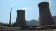 Coal fired power station in China - stock footage