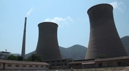 Stock Video Footage of Coal fired power station in China