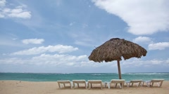 Beach umbrella Stock Footage