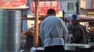 Stock Video Footage of Selling steamed buns in the early morning, China