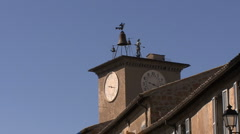 Orvieto clock Stock Footage