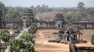 Stock Video Footage of Angkor Wat Temple, Cambodia, Siem Reap, building, cambodia, cambodian, castle