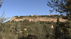 Orvieto cliff 1 Stock Footage