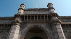 Gate of India tilt P1 Stock Footage