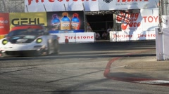 2011 LONG BEACH GRAND PRIX - LBGP ALMS TURN 10 8 Stock Footage