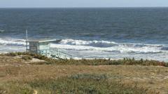 Lifeguard Tower at Beautiful California Beach 1 - stock footage