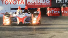 2011 LONG BEACH GRAND PRIX - LBGP ALMS TURN 10 24 Stock Footage