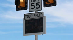 Speed Limit Monitor Stock Footage