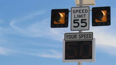 Speed Limit Check Stock Footage