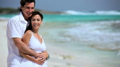 Couple in Love on Paradise Island - stock footage